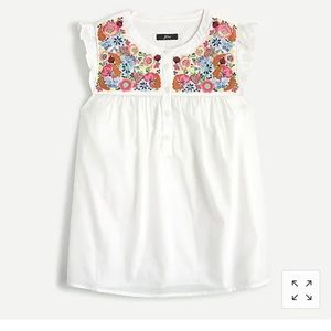 Embroidered Jcrew Floral Blouse